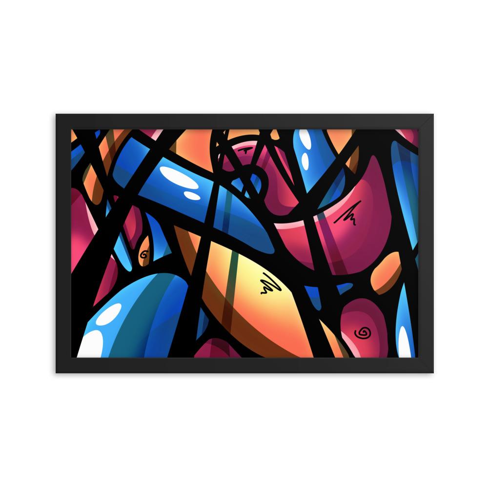 Enhanced Matte Paper Framed Poster In Black 12x18 Transparent 60464352037b1