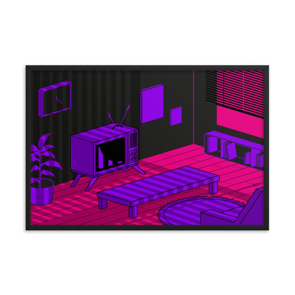 Enhanced Matte Paper Framed Poster In Black 24x36 Transparent 6046614a3f646