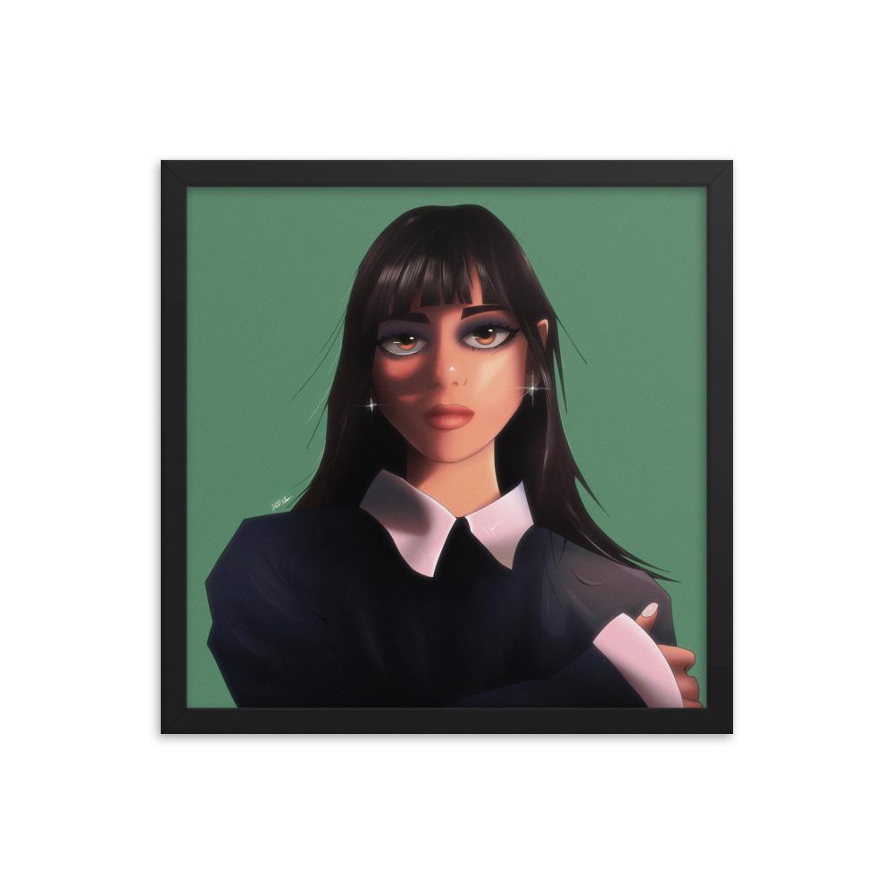 Enhanced Matte Paper Framed Poster In Black 16x16 Transparent 60a4f7ea95724