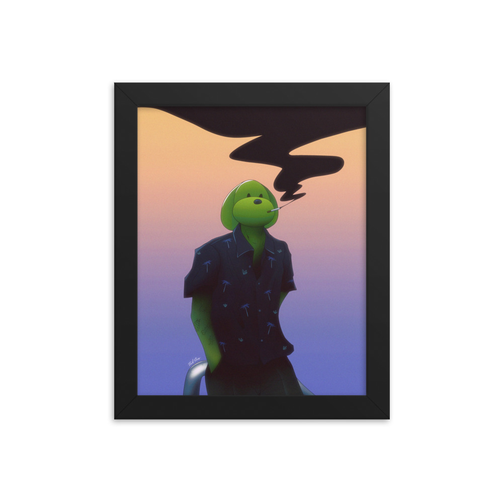Enhanced Matte Paper Framed Poster In Black 8x10 Transparent 6096fe285af8f